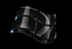 Windows черный фон темы Широкоформатные обои скачать
