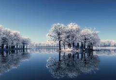 Холодная природа зимний пейзаж обои для рабочего стола