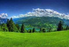 Швейцария, пейзажи, Горы, Небо, Валенштадт, трава высок�…