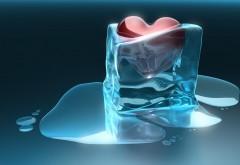 3D, настроение, эмоция, любовь, романтика, валентина сердце, ледяное сердце, холодное сердце, картинки