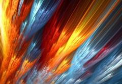 Огненные краски, абстрактные обои, картинки