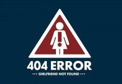 HD Ошибка 404 Girlfirend не найден Обои скачать