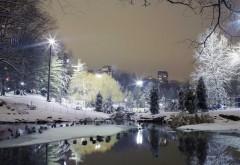 Скачать, вода, пейзаж, зимние снега, городской пейзаж, о…