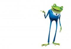 HD Лягушка в синем костюме обои