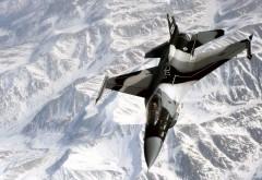 Wallpaper AK 263 Fighter Jet on Ice Mountain
