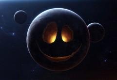 Лицо планеты смешные обои космоса