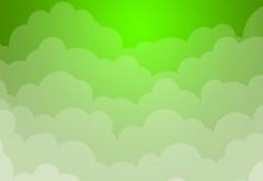 Белые и зеленые облака фоны