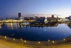 Вечерние огни, Минск, Беларусь, Немига, город, фото, картинки