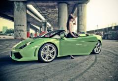 Девушка с Lamborghini Gallardo обои
