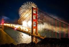 Салют на мосту Золотые Ворота Сан-Франциско
