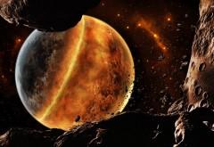 Планета плавится космос