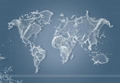 Водяная карта мира заставки