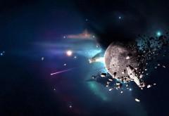 Метеориты вокруг планеты