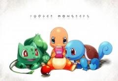 бульбазавр, покемон, чармандер, сквиртл