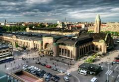 Хельсинки, Финляндия, вид сверху, город