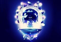 Череп в окружении света кристаллов