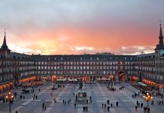 Мадрид, Испания, выставочный центр, главная площадь, го…