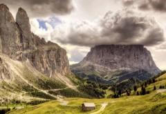 HD горы, облака, пейзажи, природа, вулканы, широкоформат�…