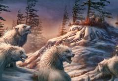 Эскимосы прячутся от белых волков