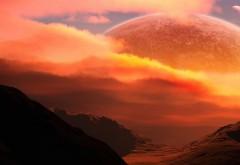 Космос, горы, луна, фото