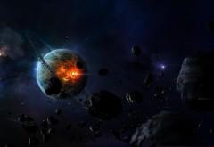удар астероида