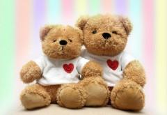 плюшевые медведи, День святого Валентина, любовь, рома�…