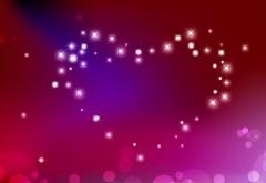 блестящие сердца, фоны, День святого Валентина, любовь, романтика