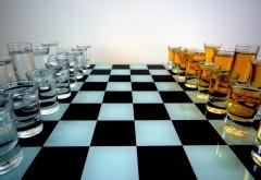 Алкогольные шахматы коньяк против водки