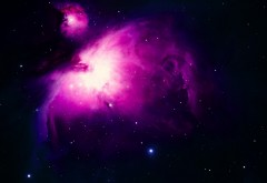 Фиолетовая туманность Ориона HD Обои для рабочего