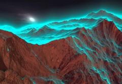 Синий свет на горах