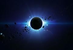 светящиеся звезды за планетой