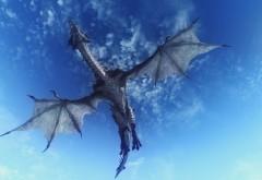 дракон, небо, полет, 3d