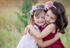 две маленькие, ангелы, любовь, малышки