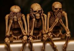 три мудреца скелеты