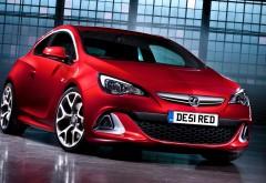 Vauxhall Astra VXR красный автомобиль
