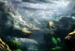 Скола, горы, небо, птицы, пепел