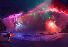 Галактика Андромеды астронавт искусство
