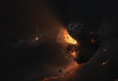 Астероид свет звезд мусора HD картинки