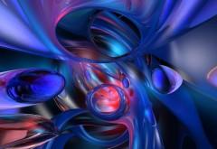 синие и красные формы