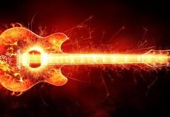 пылающая гитара, blazing guitar, музыка, рок