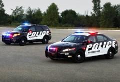 Форд полиции, перехватчик, внедорожник, мигалки