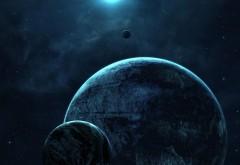 Синий космос, планеты, спокойный, HD