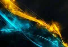 синий, желтый, полосы, фоны