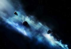 Взрыв синего, планеты