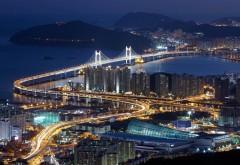 мост кванан, висячий мост, суёнгу, Южная Корея, обои