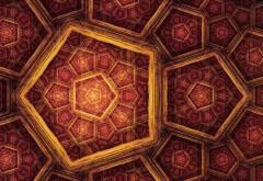 красные и желтые пятиугольники