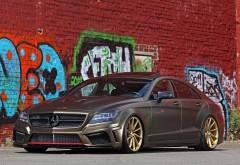 Mercedes Benz CLS 350 CDI красивый район с граффити