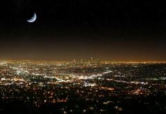 Лос-Анджелес ночью обои на рабочий стол