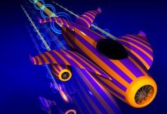 фиолетовый самолет