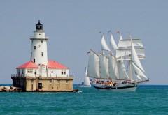 Чикаго, корабли, маяк, Иллинойс, картинки